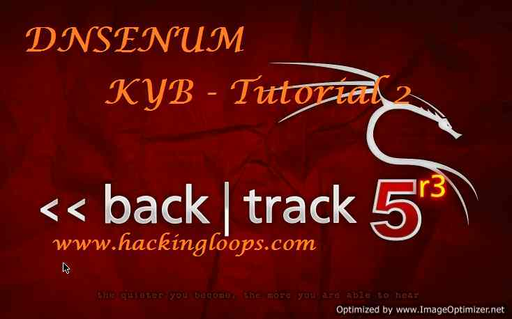 DNSENUM VIDEO TUTORIAL – KNOW YOUR BACKTRACK