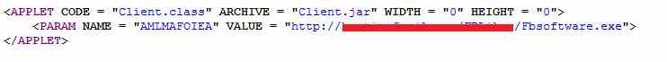 Malicious Java Driveby code