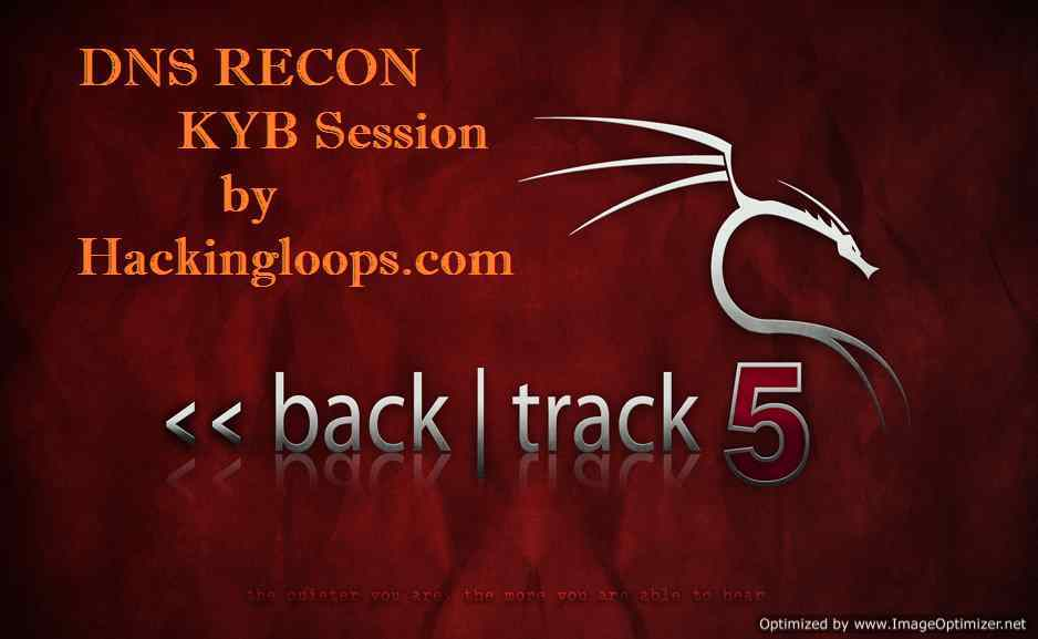 DNSRECON Tool Tutorial Hackingloops | KYB Tutorial 4