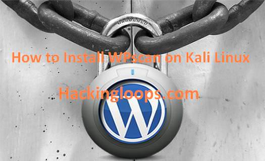 Install WordPress Vulnerability Scanner WPScan on Kali Linux