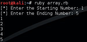 running array rb