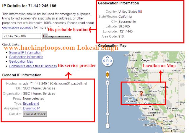 trace geographic location using IP address