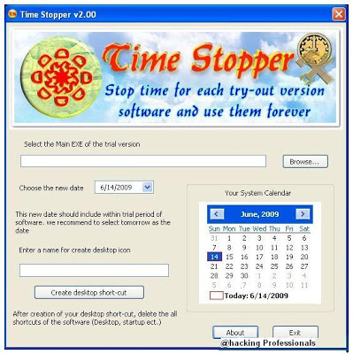 Extend Trial Period of Any Software with Time Stopper