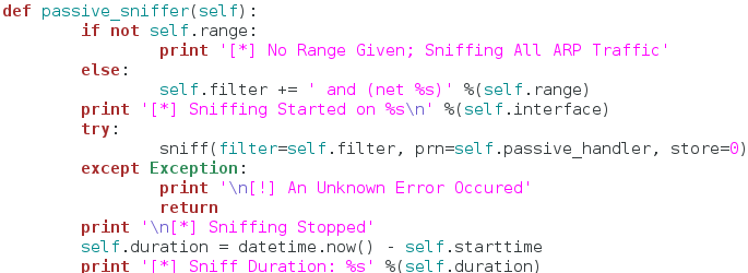python how to build a exception handler function