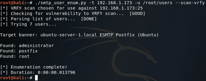 Python SMTP User Enumeration for Penetration Testing