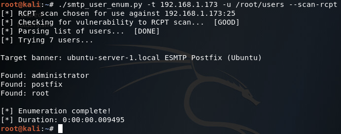 Python SMTP User Enumeration for Penetration Testing
