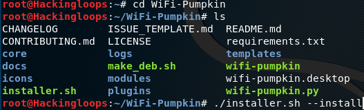 Wifi Pumpkin installation