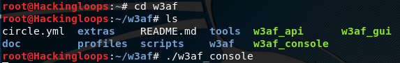 w3af console dependencies installation