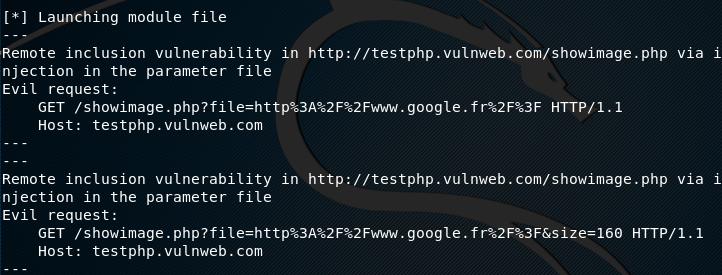 RFI vulnerability