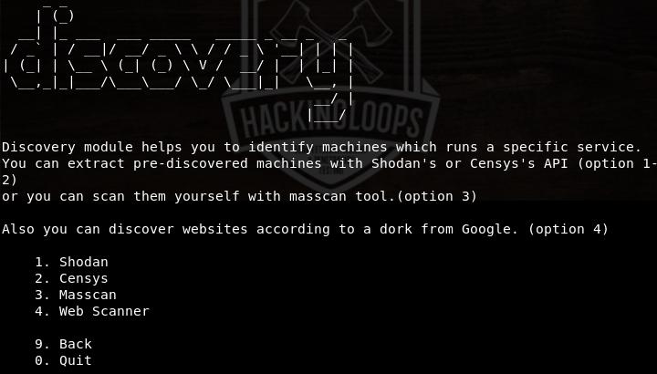 discovery menu
