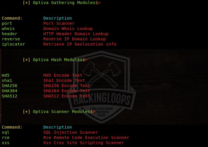 Optiva Framework modules