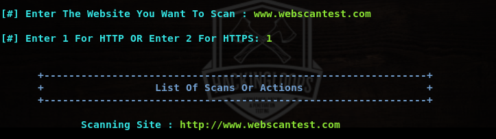 setting up scan