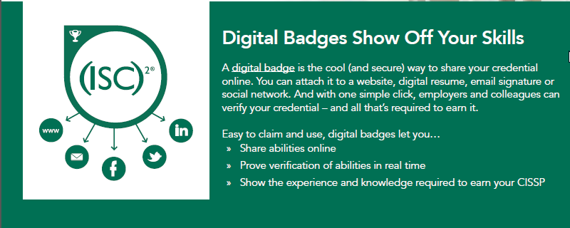 ISC2 badges