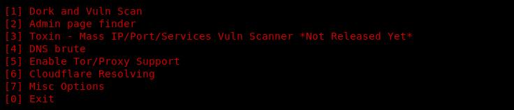 v3n0m scanner menu