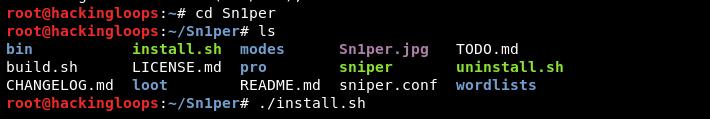 Sn1per installation