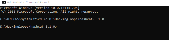 hashcat path set