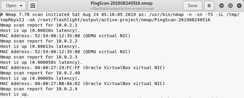 Ping scan