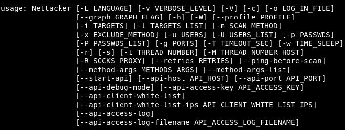 owasp-nettacker-usage