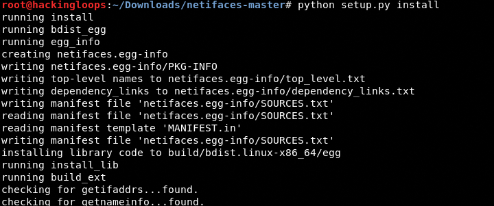 netifaces installation