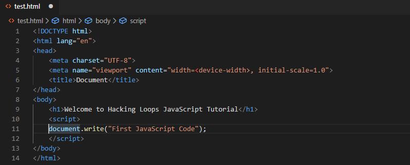 first js script