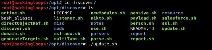 discover update
