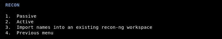 recon type