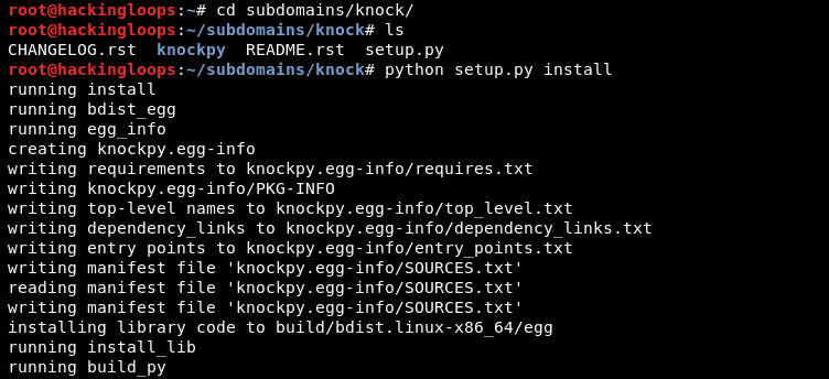 knockpy installation