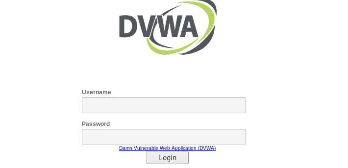 dvwa welcome page