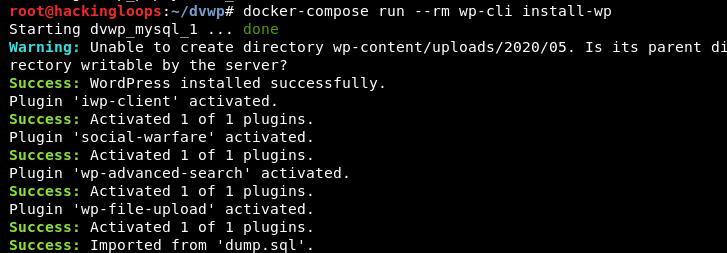 dvwp plugins installation