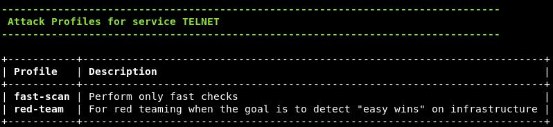 service attack profiles