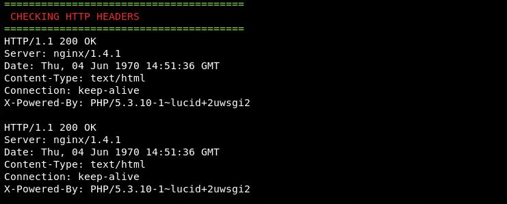 HTTP header information