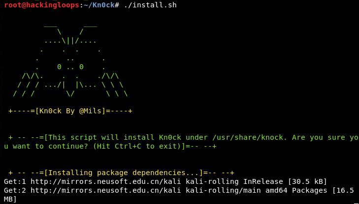 Kn0ck installation process