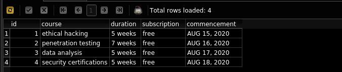 delete row results