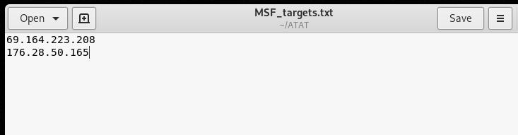Mass scan target IPs