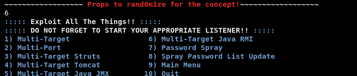 Multi Target exploit module