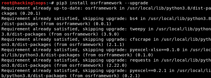 osrframework upgrade