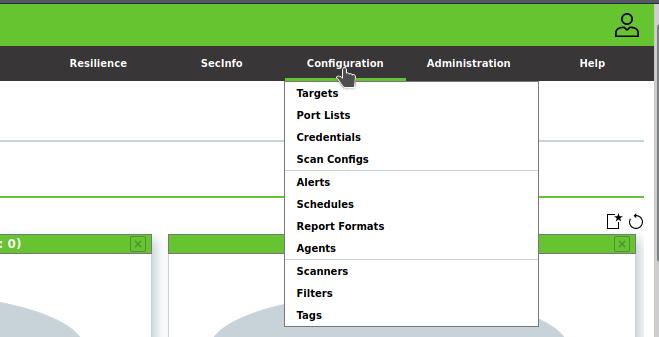 gvm configuration tab