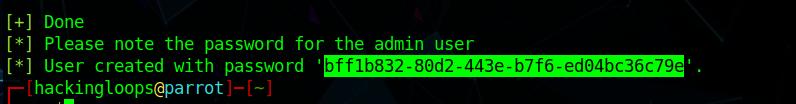 gvm admin password
