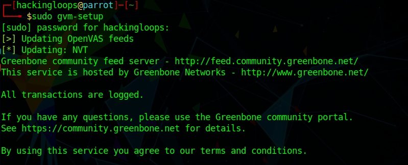 gvm-setup command