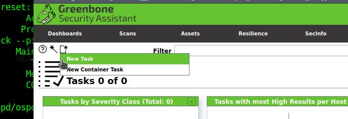 new task option