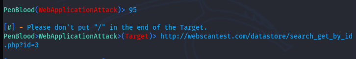 web target setting