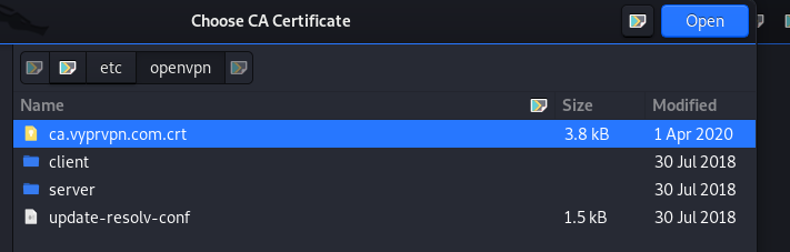 choose vypr vpn cert