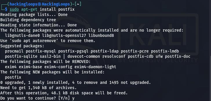 postfix installation