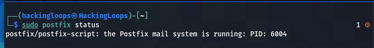 postfix status