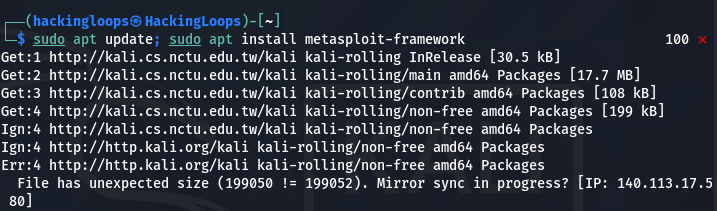 metasploit update 01