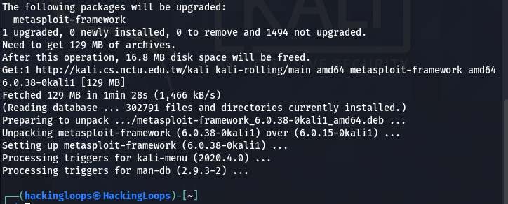 metasploit update progress2