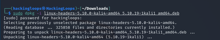 manual linux header package installation